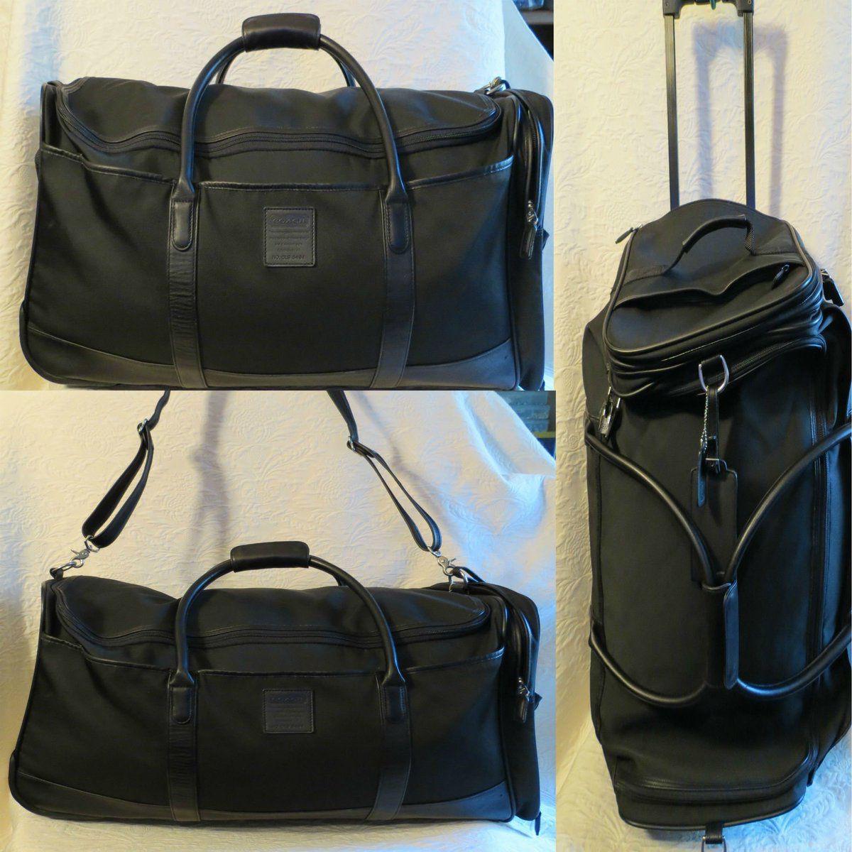 Greece Coach Rolling Duffle Bag