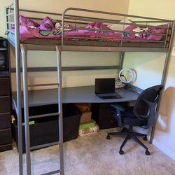 Bed With Desk- Litera Con Escritorio Thumbnail