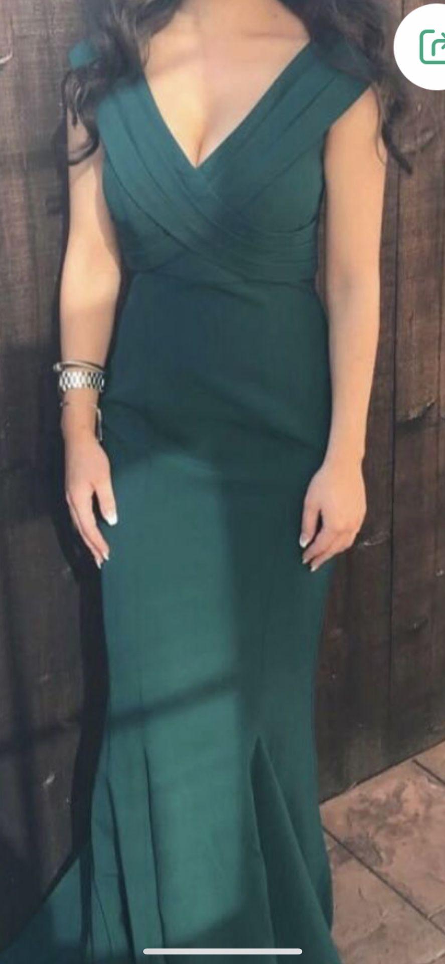 Formal Mermaid Emerald Green Dress