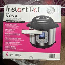 NEW BOXED Instant Pot Duo Nova 6qt 7 in 1 Multi Use Pressure Cooker Thumbnail