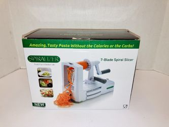 Brieftons 7-Blade Vegetable Spiralizer Strongest-and-Heaviest Duty Vegetable Spiral Slicer, Best Veggie Pasta Spaghetti Maker for Low Carb/Paleo/Glut Thumbnail