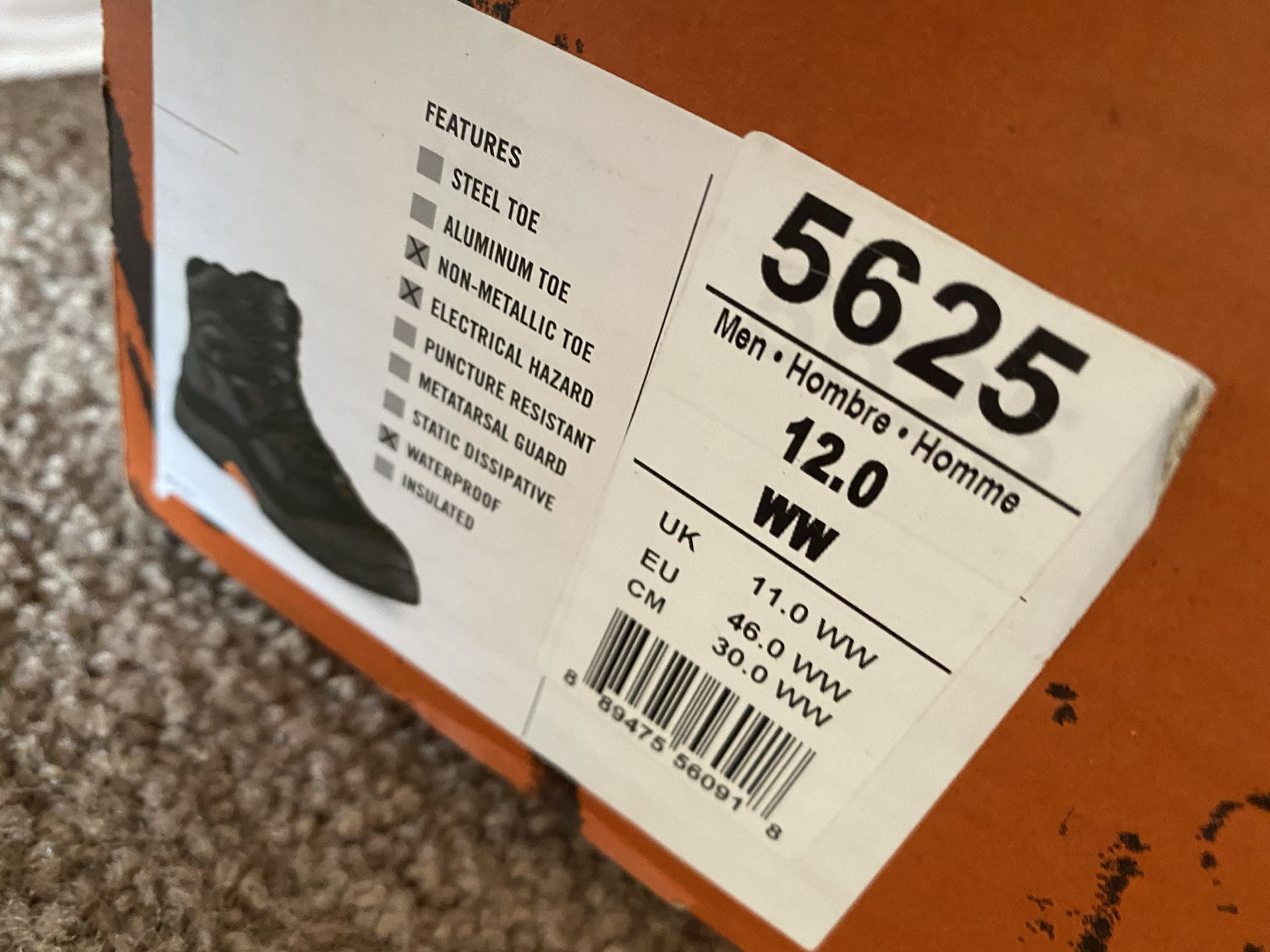 Red Wing Size 12 Brand new Steel toe protective work Boot
