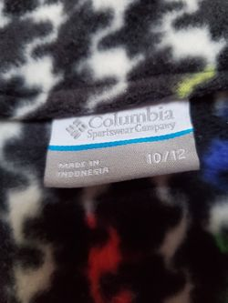 COLUMBIA GIRL'S RAINBOW FLEECE JACKET! Thumbnail