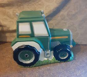 Decorative Farm Tractor Ceramic Display Thumbnail