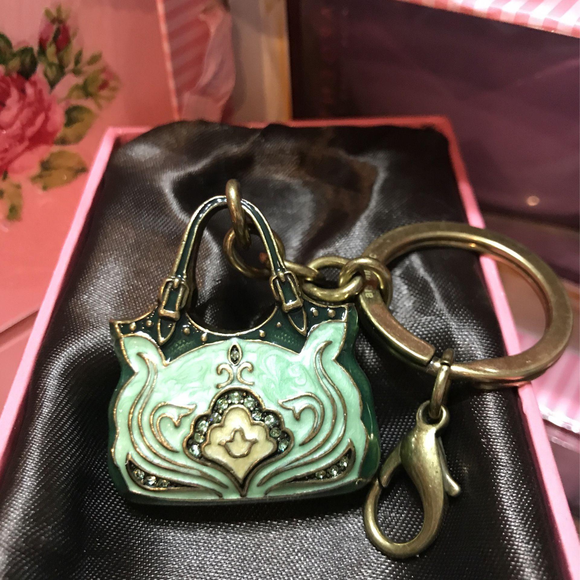 Pretty! New ! Purse Key Chain / Purse Charm