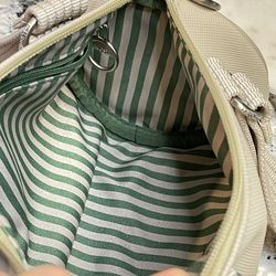 LACOSTE Summer Sand Roll Bag Khaki Bag NWOT Thumbnail