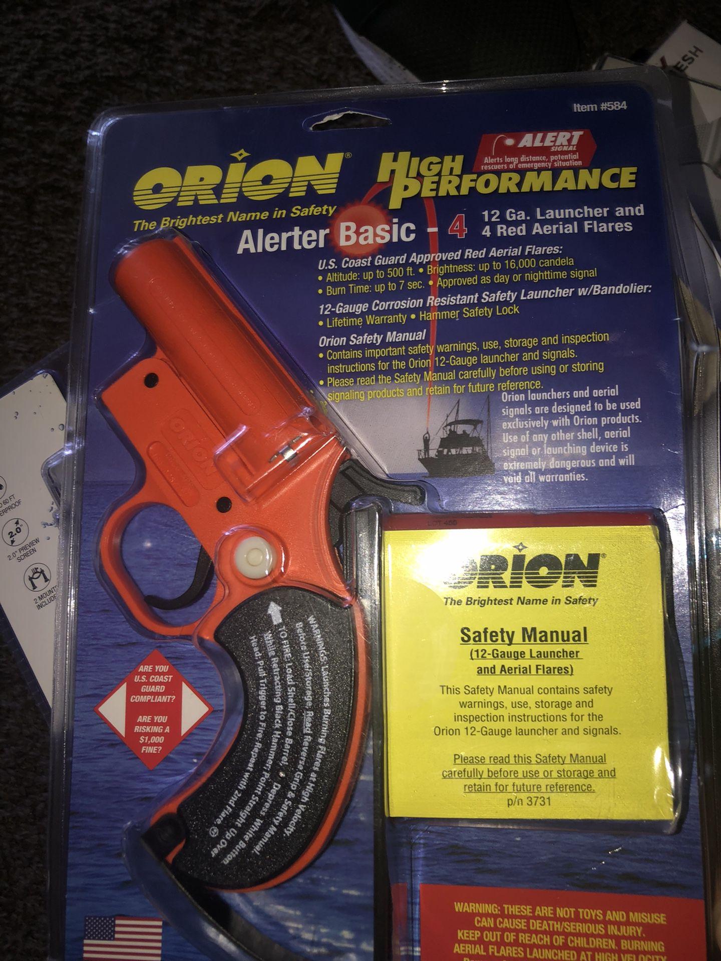 radios, fishing gear ,flare gun ,radio etc