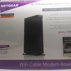 Netgear AC1750 wifi cable modem router Thumbnail