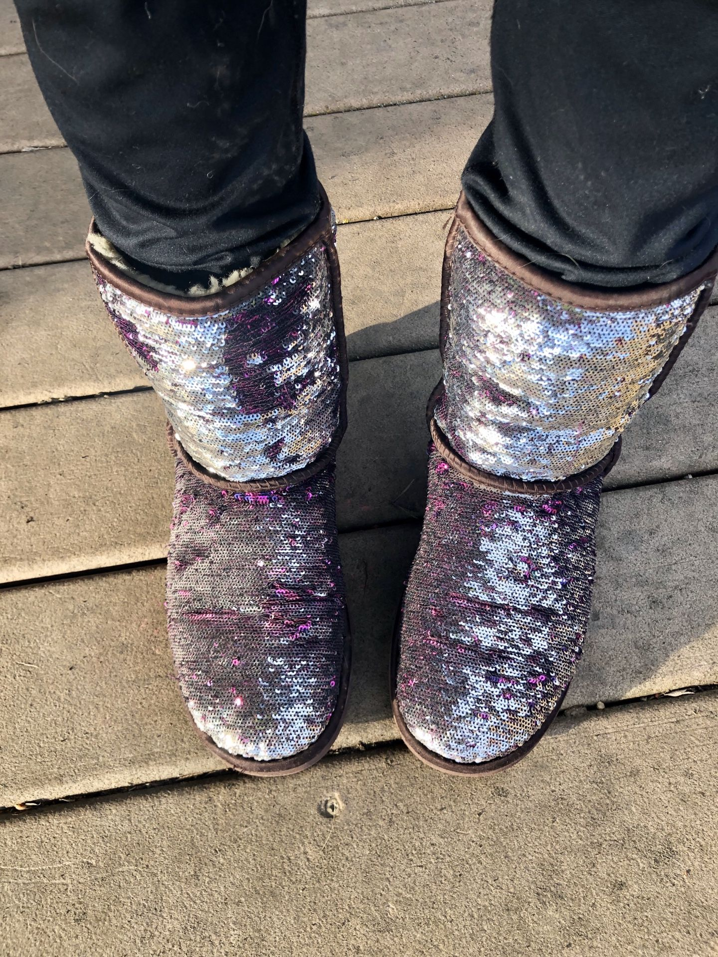 UGG sequin boots size 8