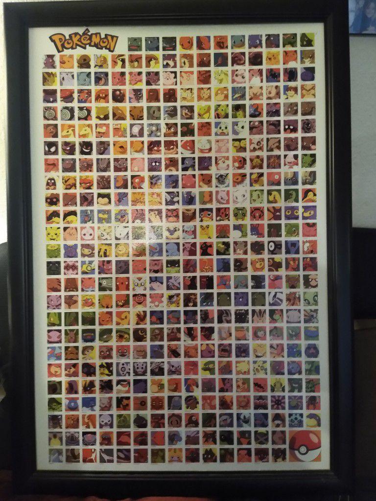 Pokemon Framed Picture