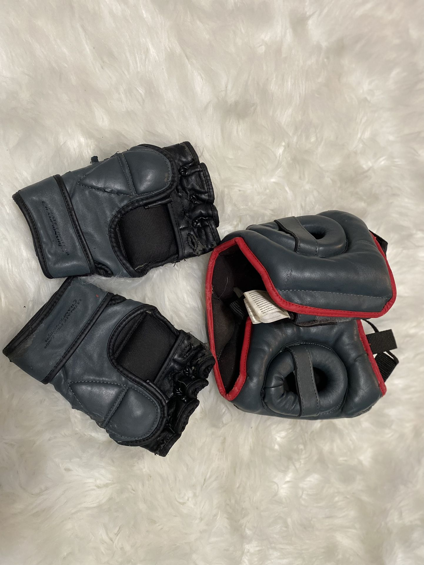 UFC Set Of Head Gear And Mma Gloves