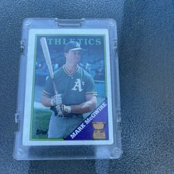Topps Mark McGuire Rated Rookie Card Thumbnail