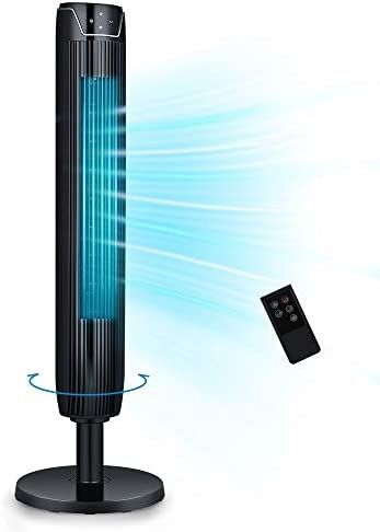 BRAND NEW IN UNOPENED BOX- Tower Fan, 42 Inch Portable Oscillating Quiet Cooling Fan with Remote Controlled, 3 Modes and Speed Settings, Built-in Time