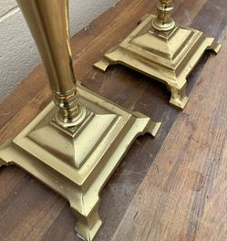 ***18 inch Solid Brass Candle Holders/ Candlesticks *** Thumbnail