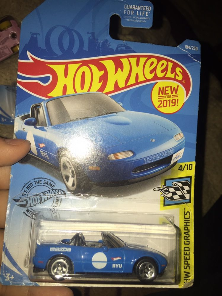 HW Speed Graphics blue hot wheels Mozda