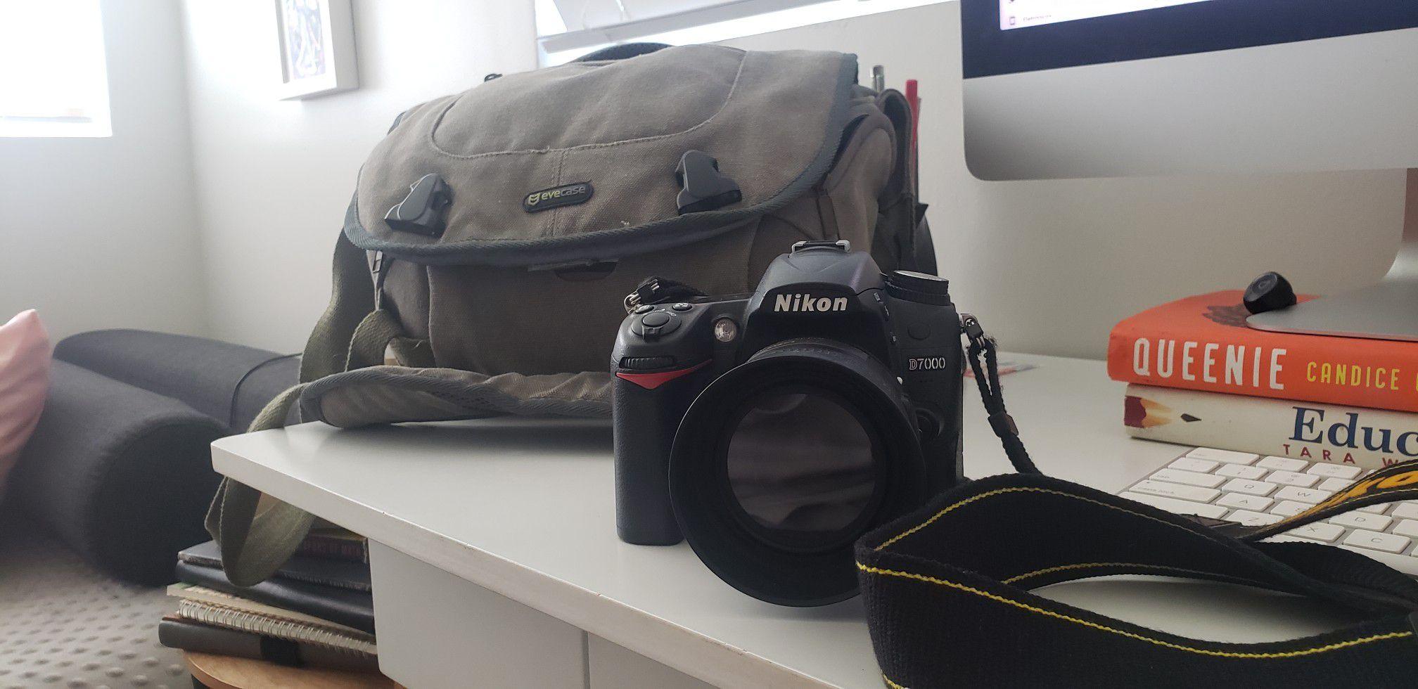 Nikon D7000 + 35mm 1.8 Nikkor lenses + Evecase