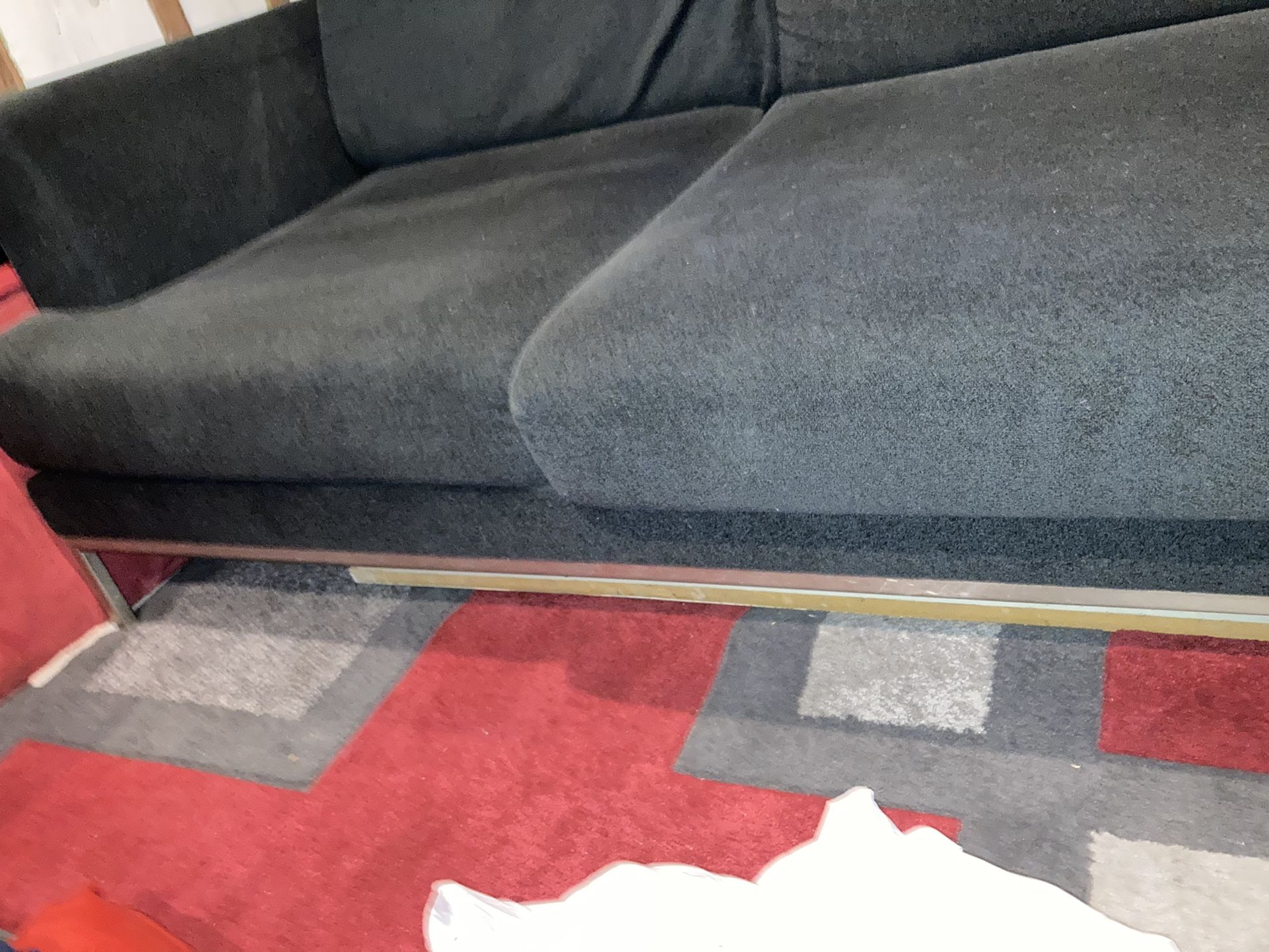 Navy Blue Microfiber Couch