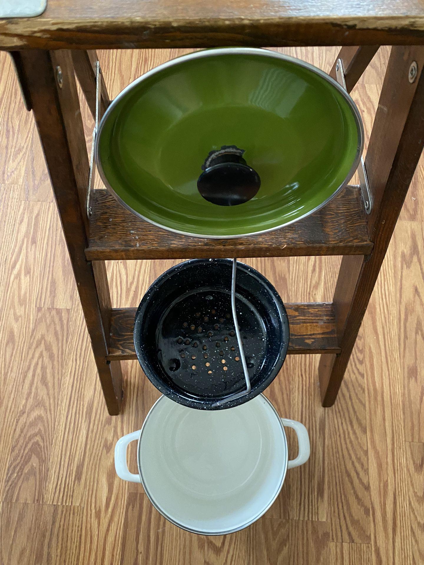Vintage Steamer Pot & Strainer