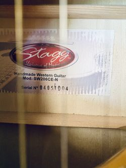 Stagg Handmade Acoustic/Electric Guitar Thumbnail