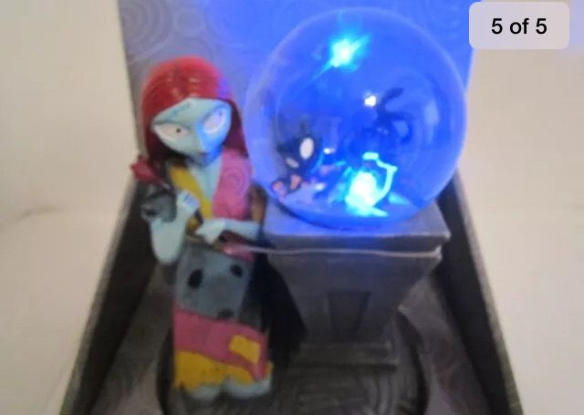 Nightmare before Christmas light up musical snow globe