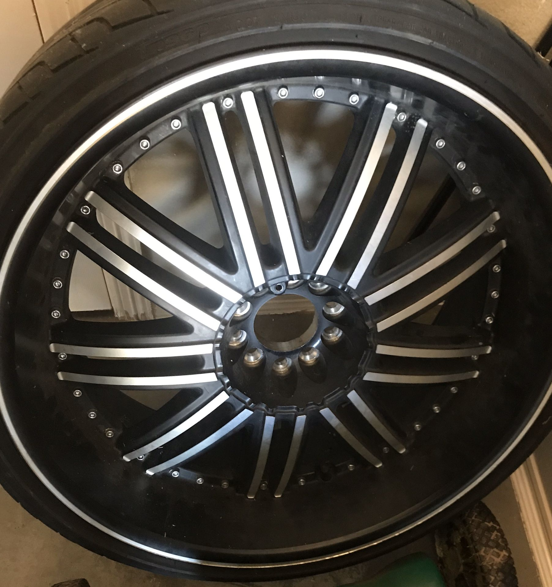 1 rim and tires
