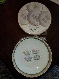 Set of 4 porcelain plates Thumbnail