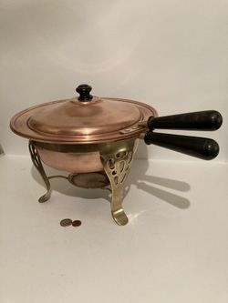 Vintage Copper Chafing Dish Thumbnail