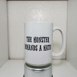 The Monster And The Bride  Custom 15 oz Coffee Mug  Thumbnail