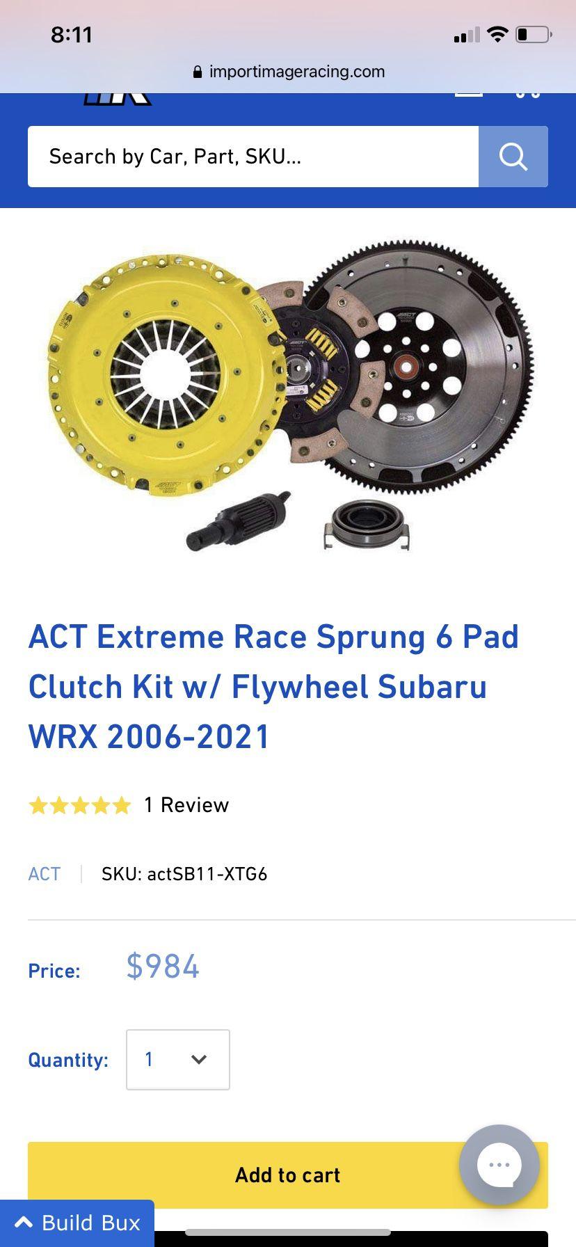 ACT clutch kit for 2015-2021 Subaru WRX