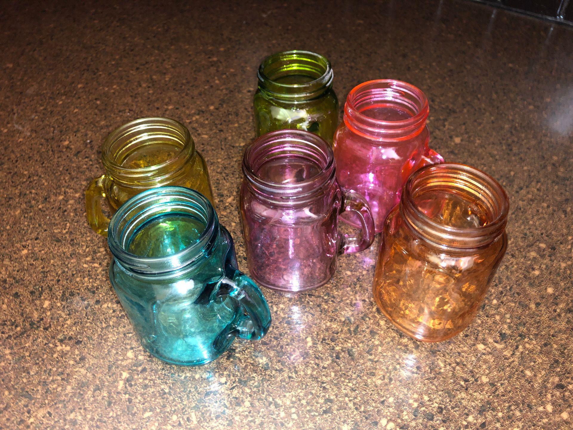 6 shot glass mason jars