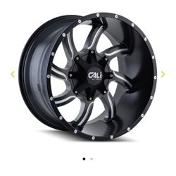 """Cali Off Road 20"""" 22"""" Wheels 9102 Twisted Satin Black W Milled Spokes 0120💰 We Finance 💯 Days Same As CASH💰 Thumbnail"""