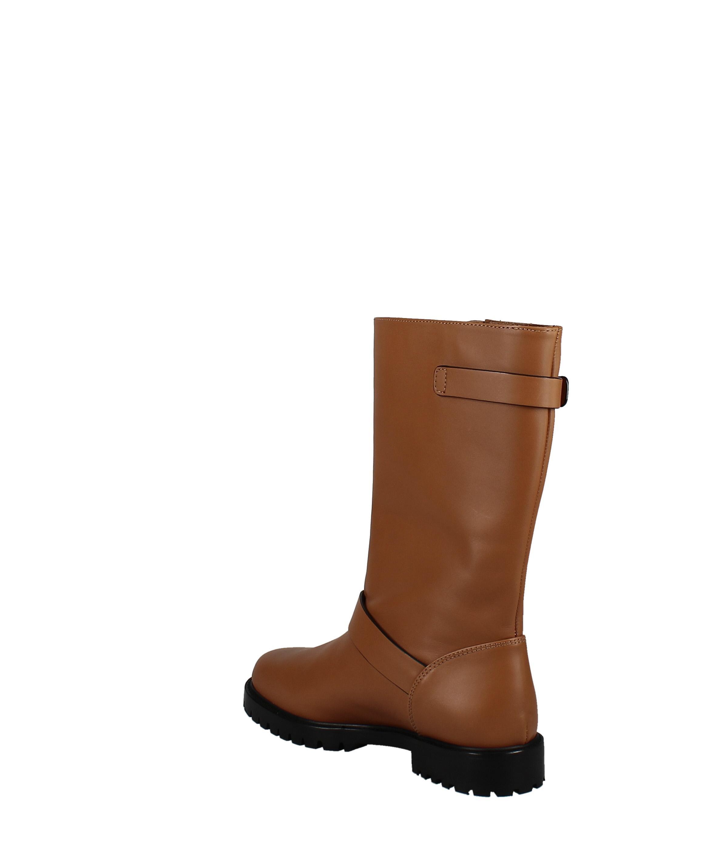 Lafayette 148   Jordan Moto Leather Boot   Tan   8 M