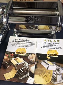 Marcato Pasta Cutter Atlas 150 w/ 3 attachments Thumbnail