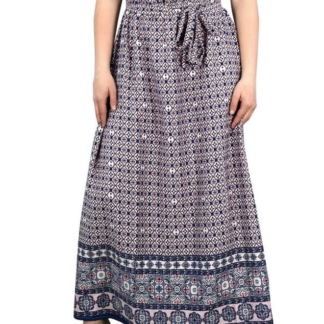 Cowl Neck Sleeveless Bow Belt Summer Maxi Dress Party Dress Size x-large