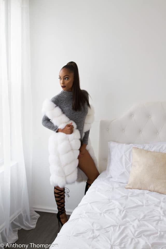 Real Fox Fur Coat Vest