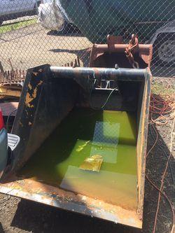 Gradeall Trenching Bucket, Grading Bucket& Rare duck Foot& Ford 6' York Rake  Thumbnail