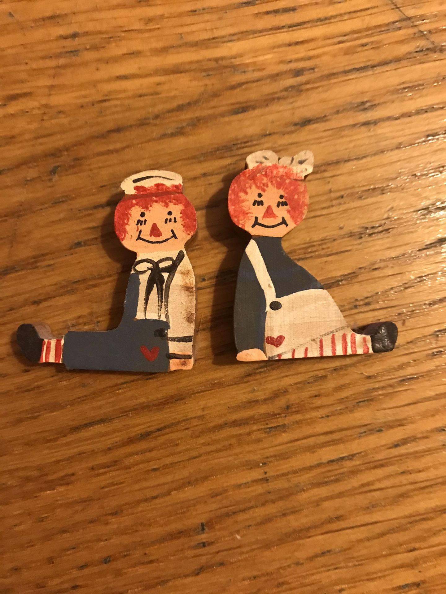 Hand painted raggedy Ann and Andy