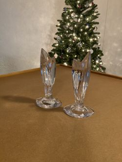 Waterford crystal candlesticks Thumbnail
