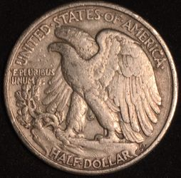 Silver 1947 Walking Liberty Half Dollar  Thumbnail