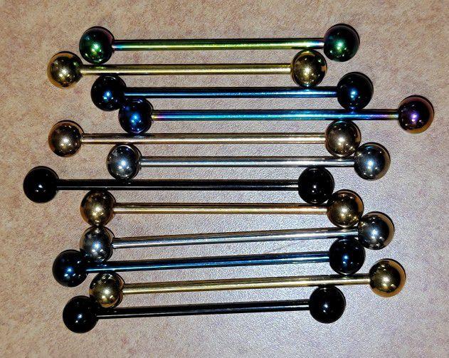 14 Gauge industrial ear Jewelry