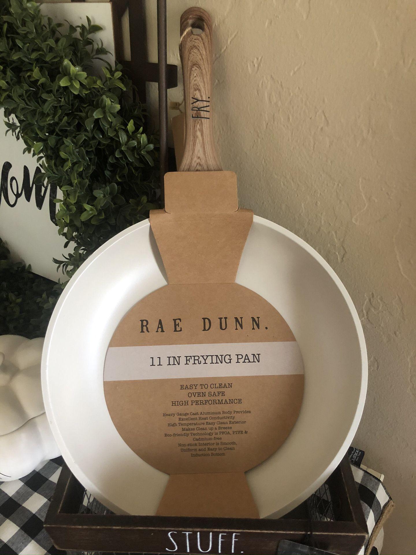 New Rae Dunn White FRY 11in Frying Pan