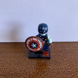 LEGO 2021 Marvel Studios Minifigures - Zombie Captain America (Steve Rogers) Thumbnail