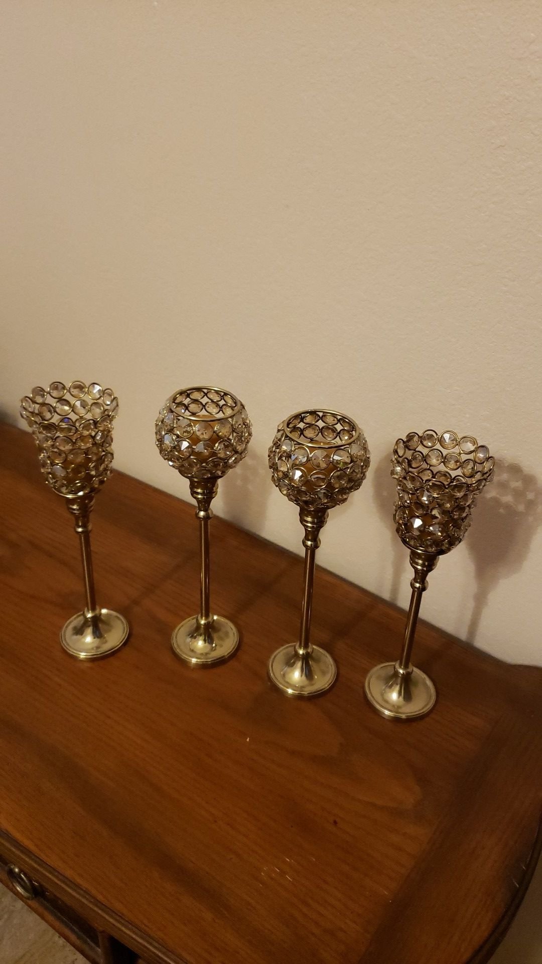 NEW BRASS CANDLE HOLDERS