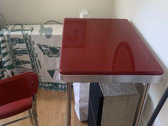 Retro-Style, Cherry Red, Bistro Dining Set   Thumbnail