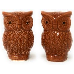 Owl Salt & Pepper Shakers Fall Thanksgiving Holiday Decor Thumbnail