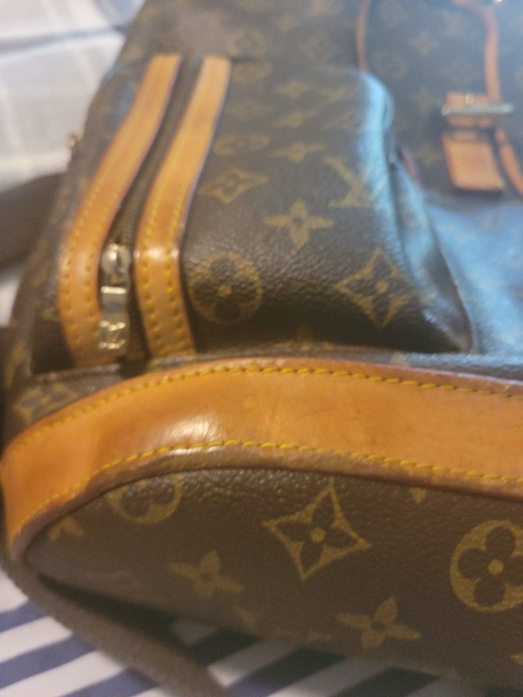 Louis Vuitton Bosphore Backpack Canvas Leather