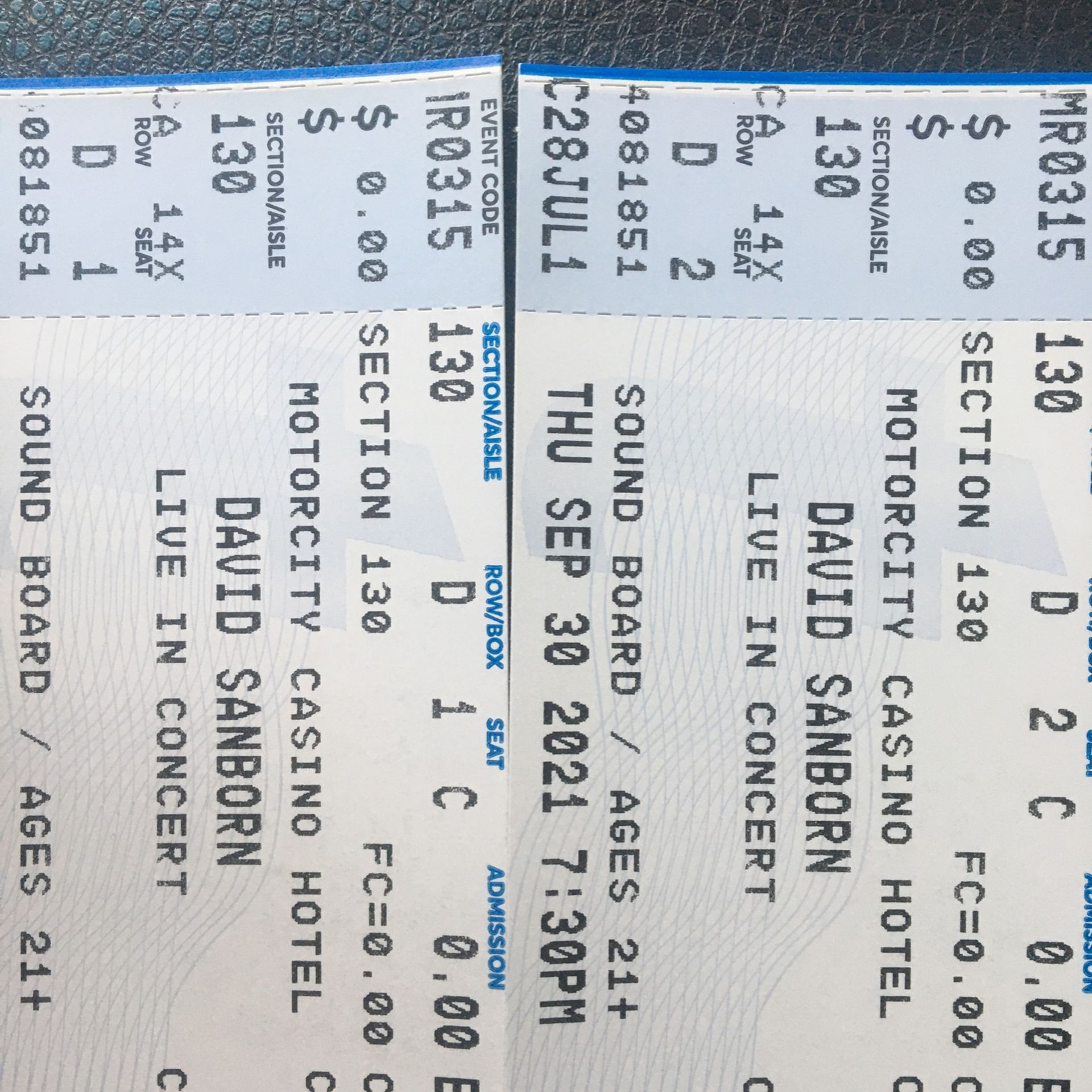 David Sanborn Tickets At The Motor City Soundboard Theatre