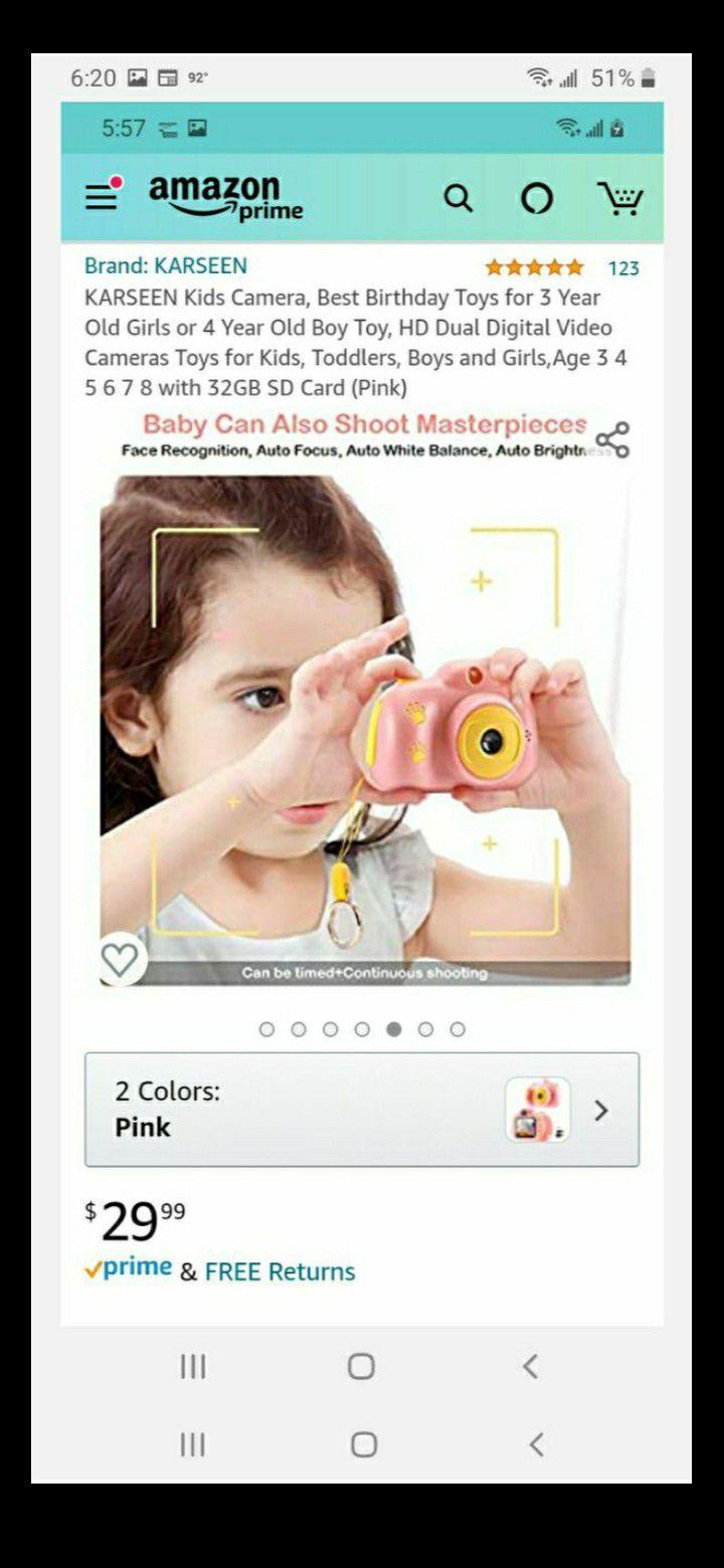HD digital camera for kids.