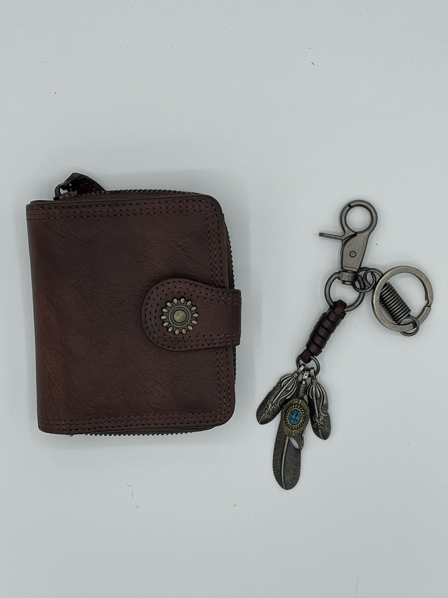 Ladies Leather Wallet And Key Chain