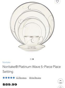 3 place settings Noritake Platinum Wave Thumbnail